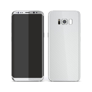 Samsung Galaxy S8+ 3D Textured White Carbon Fibre Fiber Skin, Decal, Wrap, Protector, Cover by EasySkinz | EasySkinz.com