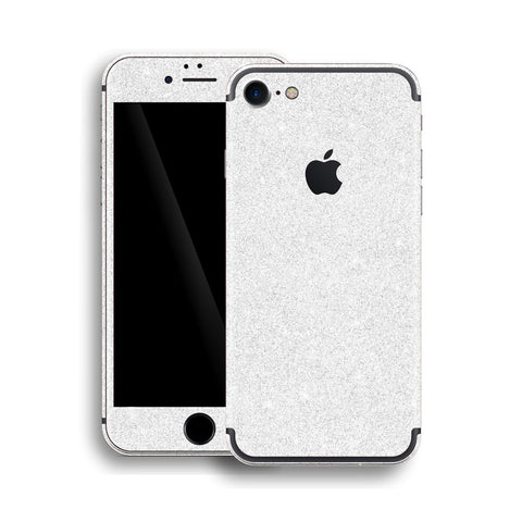 iPhone 7 Diamond WHITE Shimmering, Sparkling, Glitter Skin, Wrap, Decal, Protector, Cover by EasySkinz | EasySkinz.com