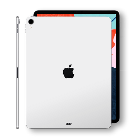 iPad PRO 11-inch 2018 Glossy White Skin Wrap Sticker Decal Cover Protector by EasySkinz