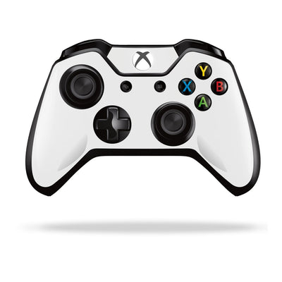 Xbox One Controller White GLOSSY Finish Skin Wrap Sticker Decal Protector Cover by EasySkinz