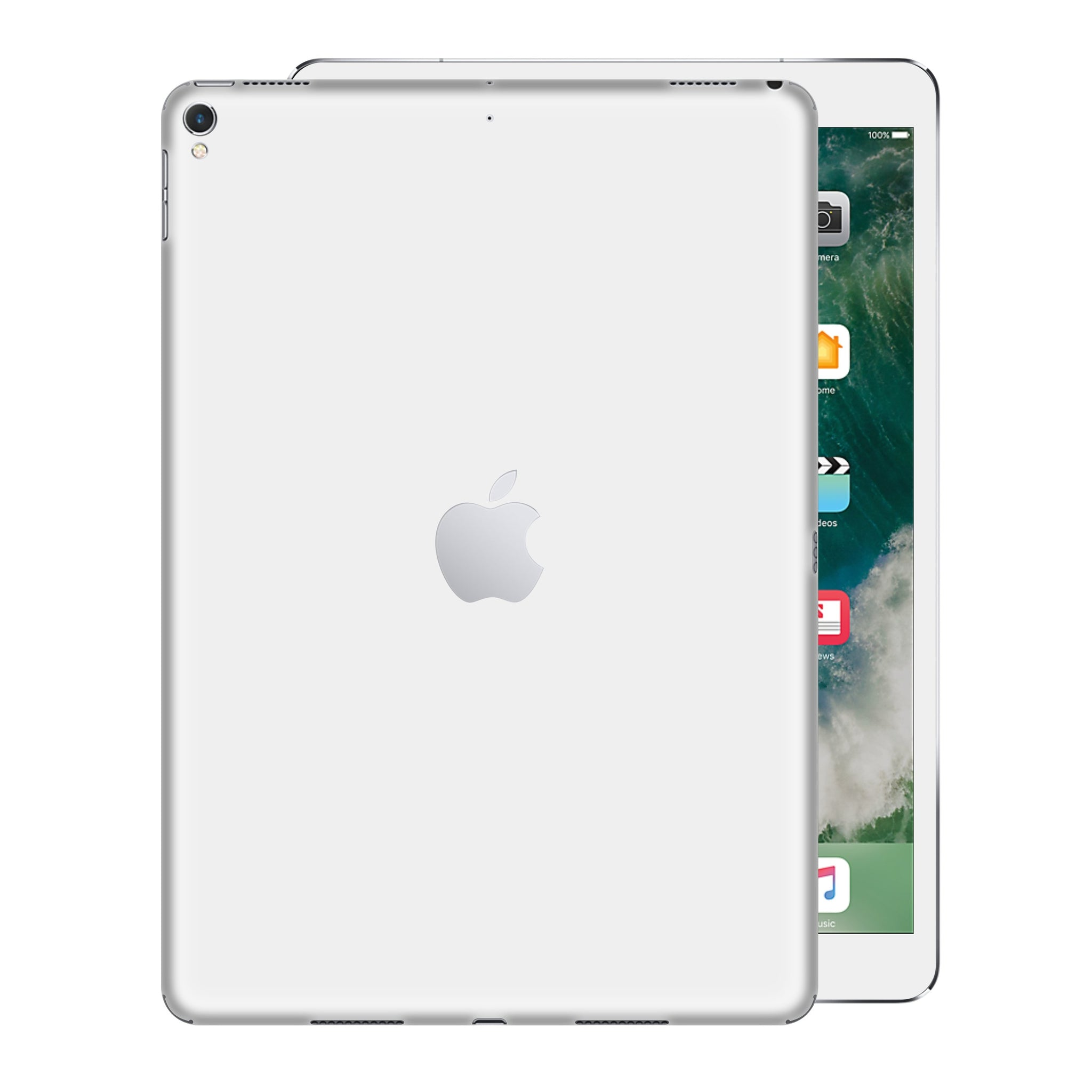 iPad PRO 12.9 inch 2017 Glossy White Skin Wrap Sticker Decal Cover Protector by EasySkinz