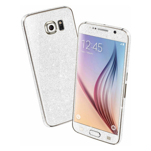 Samsung Galaxy S6 DIAMOND WHITE Shimmering Sparkling Glitter Skin Wrap Sticker Cover Decal Protector by EasySkinz