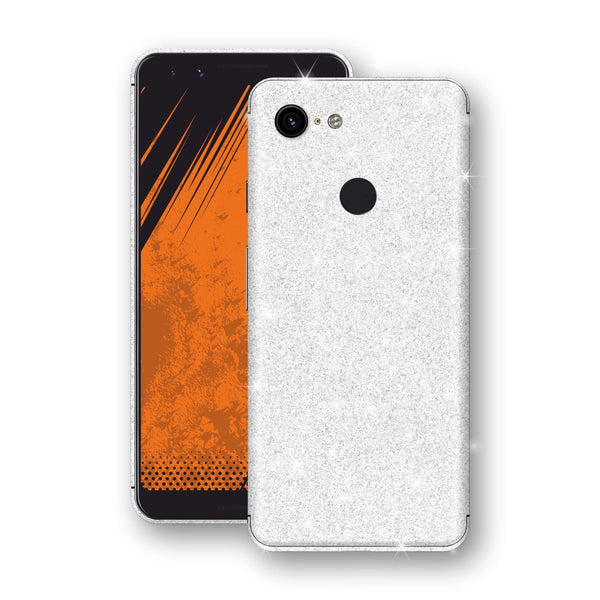 Google Pixel 3 Diamond White Shimmering, Sparkling, Glitter Skin, Decal, Wrap, Protector, Cover by EasySkinz | EasySkinz.com