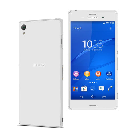 Sony Xperia Z3 White Glossy Skin Wrap Sticker Cover Decal Protector. By EasySkinz.