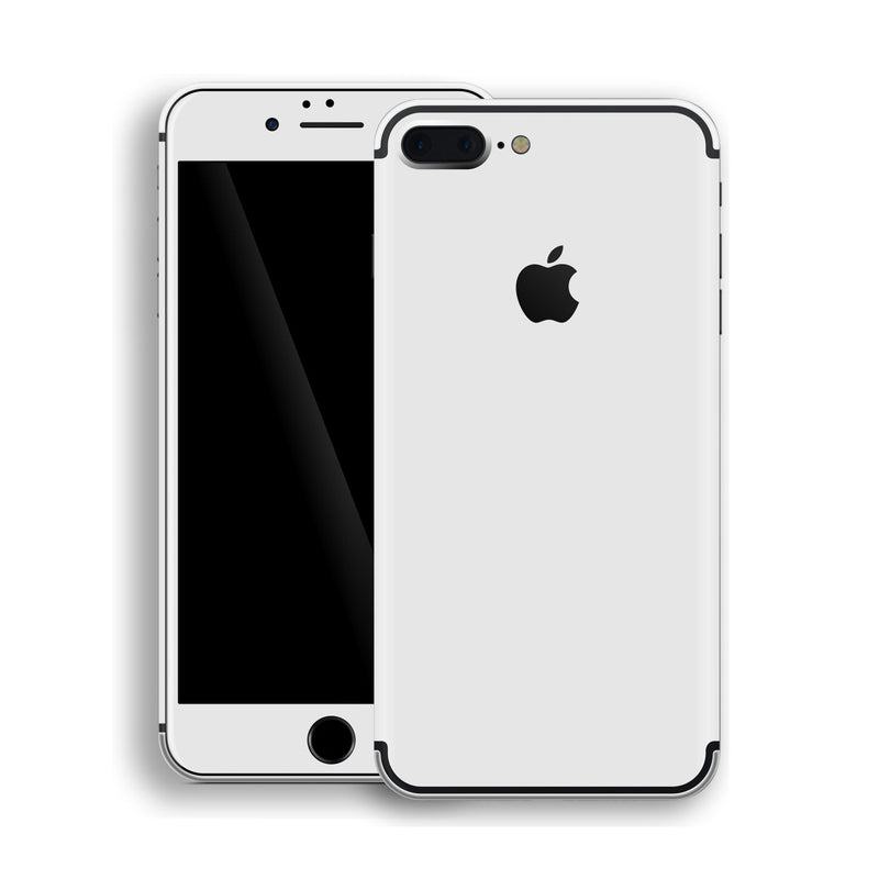 iPhone 7 Plus White Glossy Gloss Finish Skin, Decal, Wrap, Protector, Cover by EasySkinz | EasySkinz.com