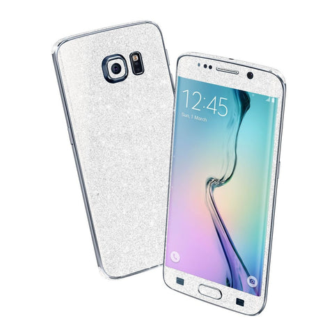 Samsung Galaxy S6 EDGE DIAMOND WHITE Shimmering Sparkling Glitter Skin Wrap Sticker Cover Decal Protector by EasySkinz