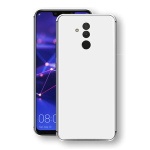 Huawei MATE 20 LITE White Glossy Gloss Finish Skin, Decal, Wrap, Protector, Cover by EasySkinz | EasySkinz.com