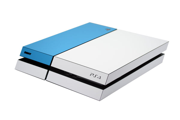 ps4 white and blue matt skin