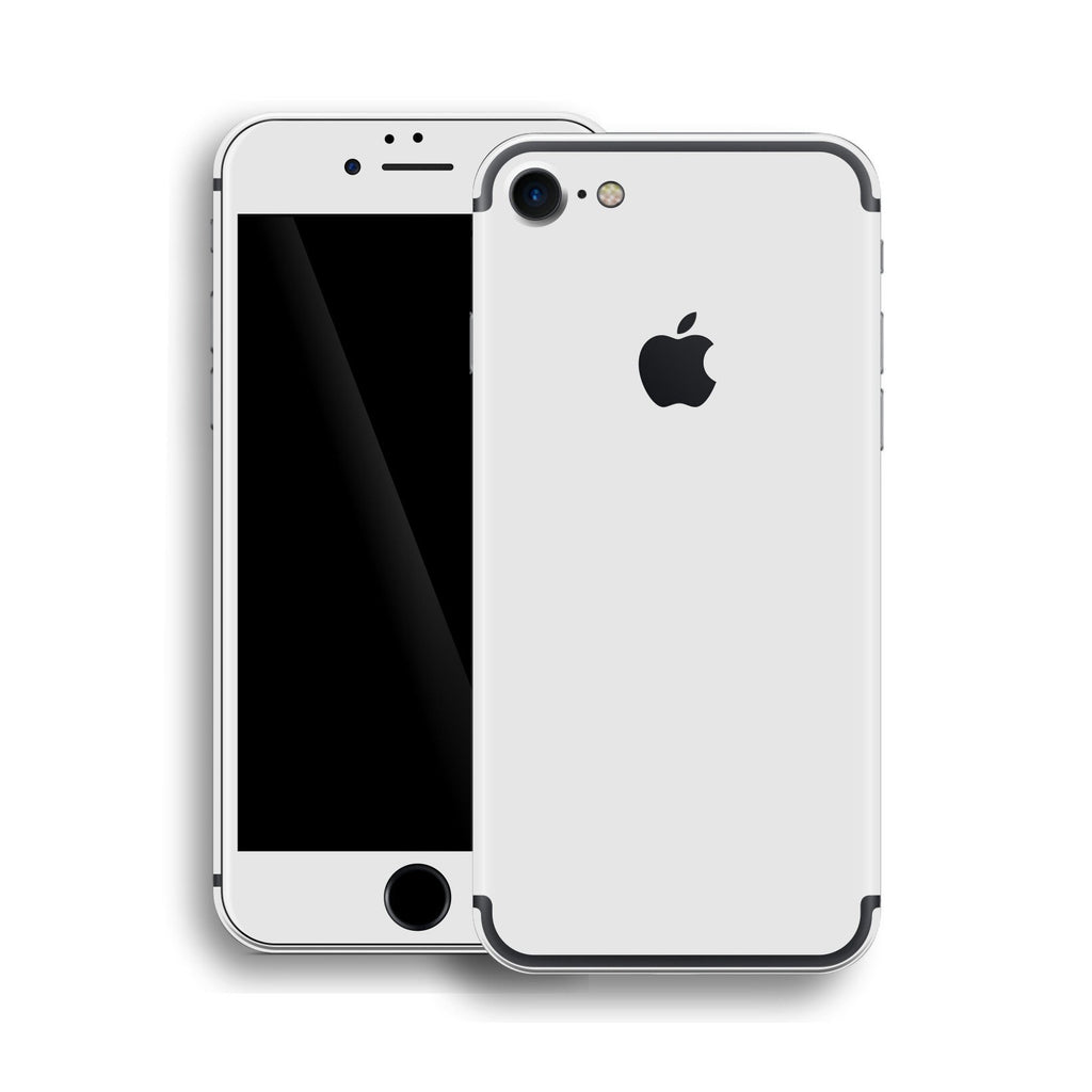 iPhone 7 Glossy WHITE Skin, Wrap, Decal, Protector, Cover by EasySkinz | EasySkinz.com