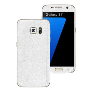 Samsung Galaxy S7 DIAMOND White Skin Wrap Decal Sticker Cover Protector by EasySkinz