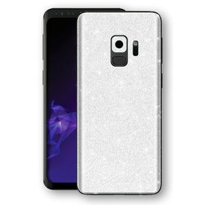 Samsung GALAXY S9 Diamond White Shimmering, Sparkling, Glitter Skin, Decal, Wrap, Protector, Cover by EasySkinz | EasySkinz.com