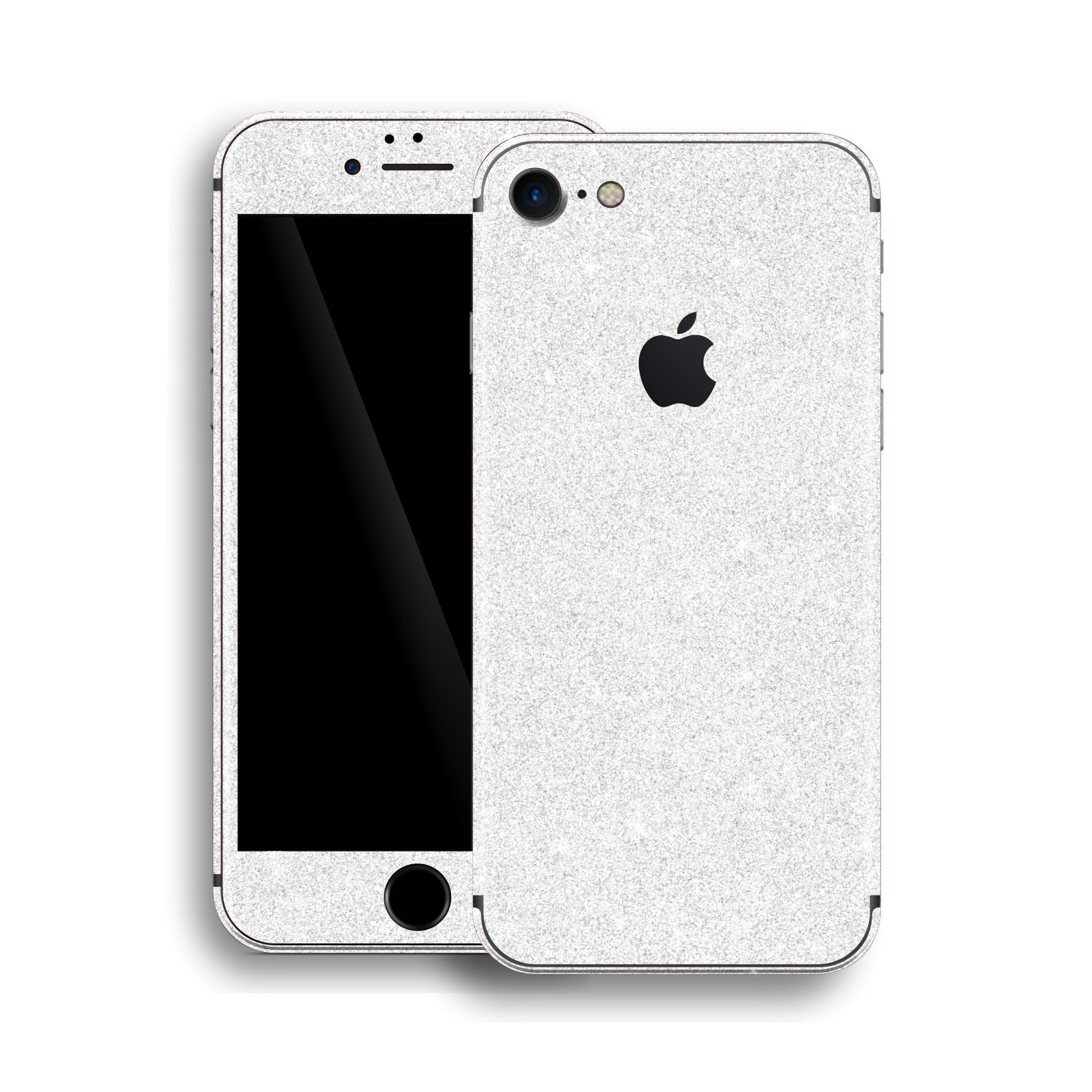iPhone 8 Diamond WHITE Shimmering, Sparkling, Glitter Skin, Wrap, Decal, Protector, Cover by EasySkinz | EasySkinz.com