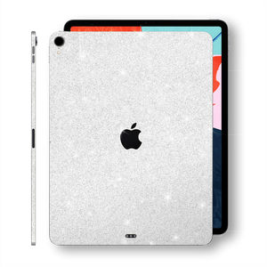 "iPad PRO 11"" inch 2018 Diamond WHITE Glitter Shimmering Skin Wrap Sticker Decal Cover Protector by EasySkinz"