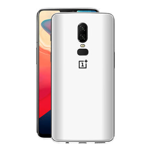 OnePlus 6 White Matt Skin, Decal, Wrap, Protector, Cover by EasySkinz | EasySkinz.com