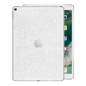 "iPad 9.7"" inch 5th Generation 2017 Diamond WHITE Glitter Shimmering Skin Wrap Sticker Decal Cover Protector by EasySkinz"