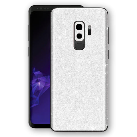 Samsung GALAXY S9+ PLUS Diamond White Shimmering, Sparkling, Glitter Skin, Decal, Wrap, Protector, Cover by EasySkinz | EasySkinz.com