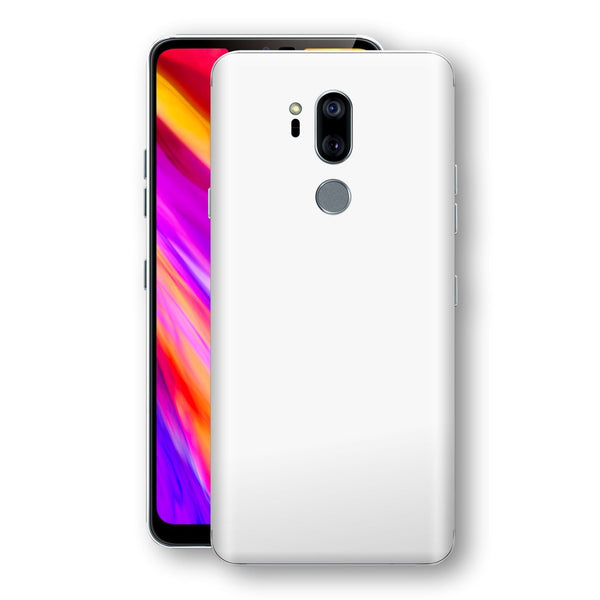 LG G7 ThinQ White Glossy Gloss Finish Skin, Decal, Wrap, Protector, Cover by EasySkinz | EasySkinz.com