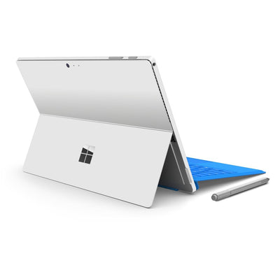 Microsoft Surface PRO 4 Glossy White Skin Wrap Sticker Decal Cover Protector by EasySkinz