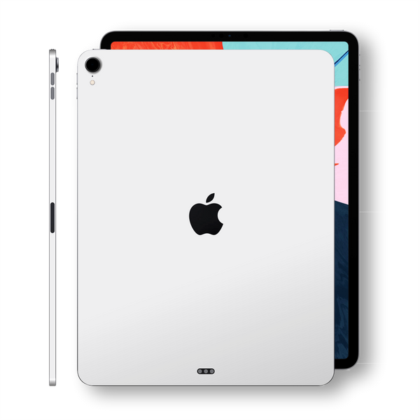 iPad PRO 11-inch 2018 Matt Matte WHITE Skin Wrap Sticker Decal Cover Protector by EasySkinz