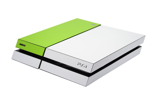 ps4 white and green matt skin