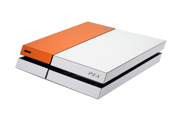 ps4 white and orange matt skin
