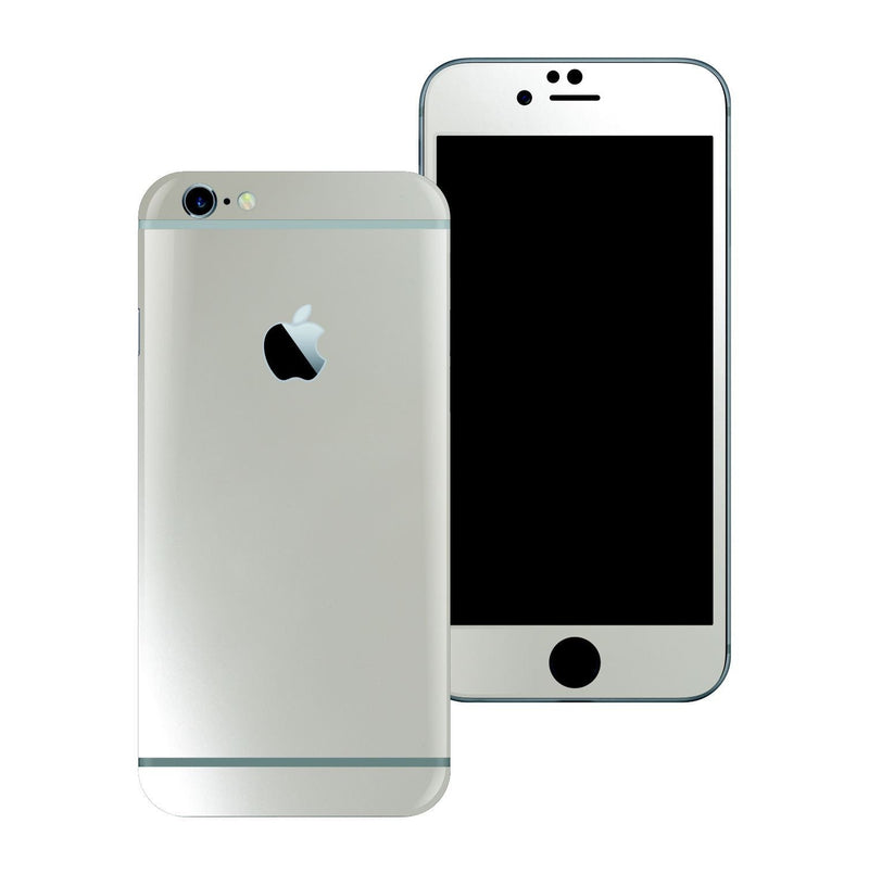 iPhone 6 Plus 3M Satin Pearl White Skin Wrap Sticker Cover Protector Decal by EasySkinz