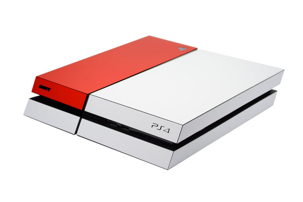 ps4 white and red matt skin