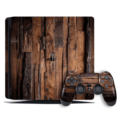 Playstation 4 SLIM PS4 Signature WOOD Skin Wrap Decal by EasySkinz
