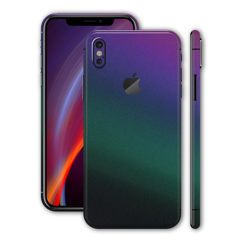 iPhone X Chameleon DARK OPAL Colour-changing Skin, Wrap, Decal, Protector, Cover by EasySkinz | EasySkinz.com