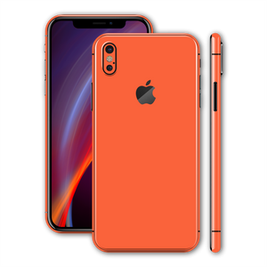 iPhone XS MAX CORAL Gloss Glossy Skin, Wrap, Decal, Protector, Cover by EasySkinz | EasySkinz.com