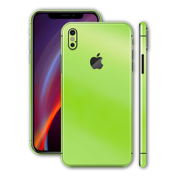 iPhone X Apple Green Pearl Gloss Finish Skin, Wrap, Decal, Protector, Cover by EasySkinz | EasySkinz.com