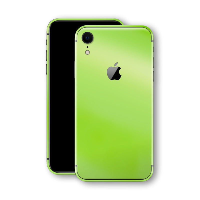 iPhone XR Apple Green Pearl Gloss Finish Skin, Wrap, Decal, Protector, Cover by EasySkinz | EasySkinz.com