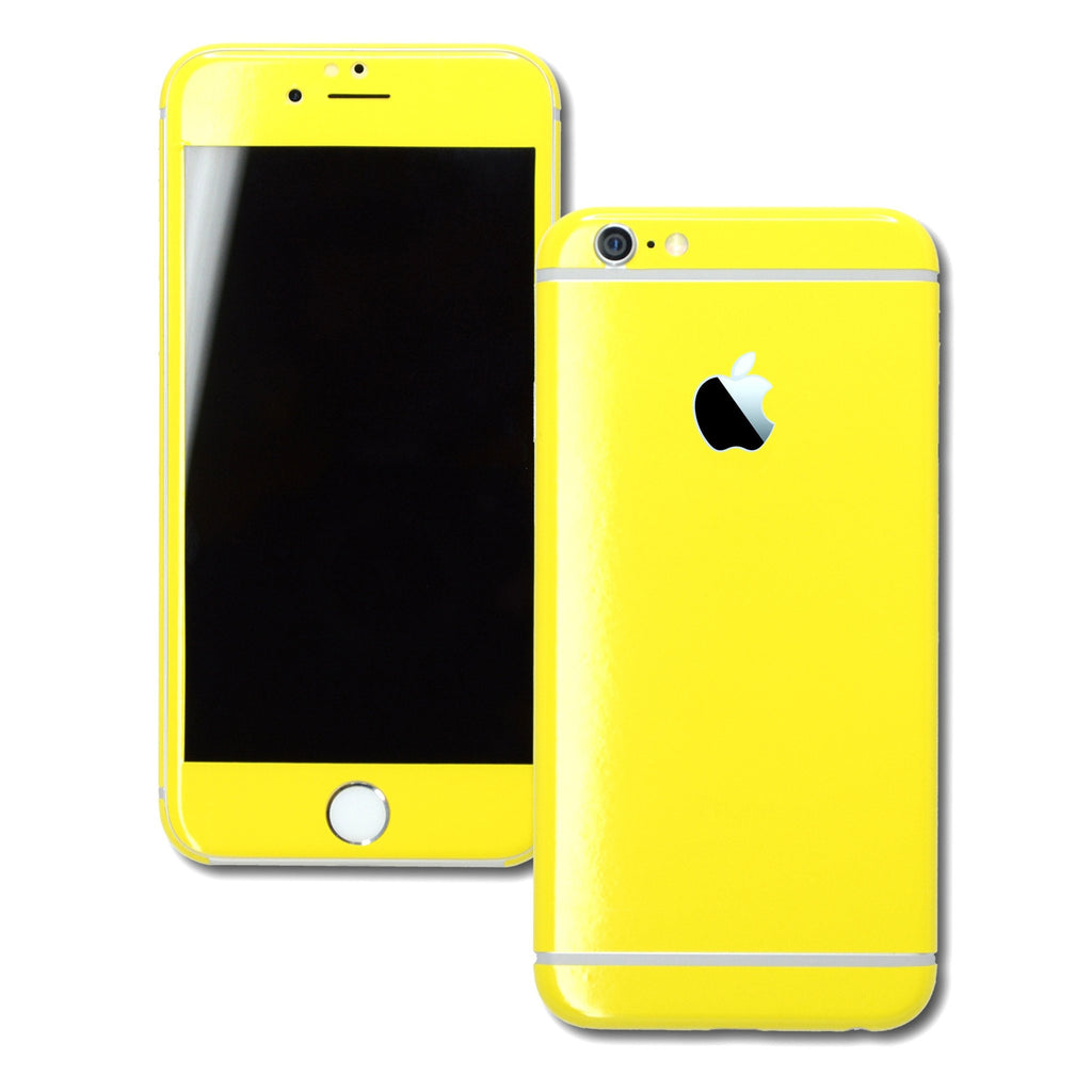 iPhone 6 Plus Colorful GLOSS GLOSSY LEMON YELLOW Skin Wrap Sticker Cover Protector Decal by EasySkinz