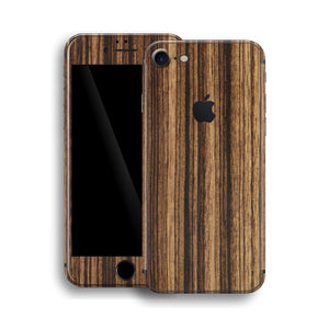iPhone 8 Luxuria Zebrano Wood Wooden Skin Wrap Decal Protector | EasySkinz