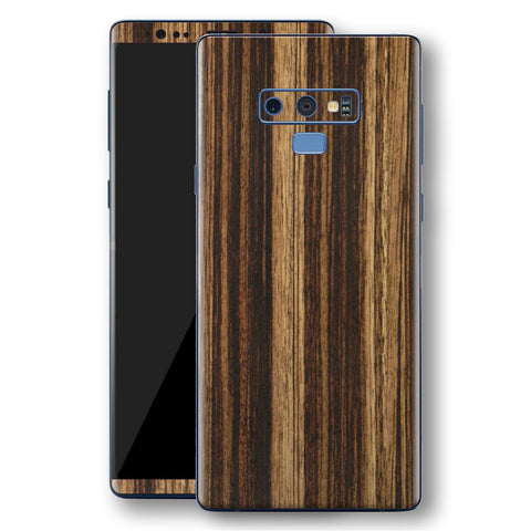 Samsung Galaxy NOTE 9 Luxuria ZEBRANO Skin Wrap Decal Protector | EasySkinz