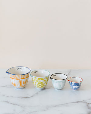 Striped Pattern Measuring Cups