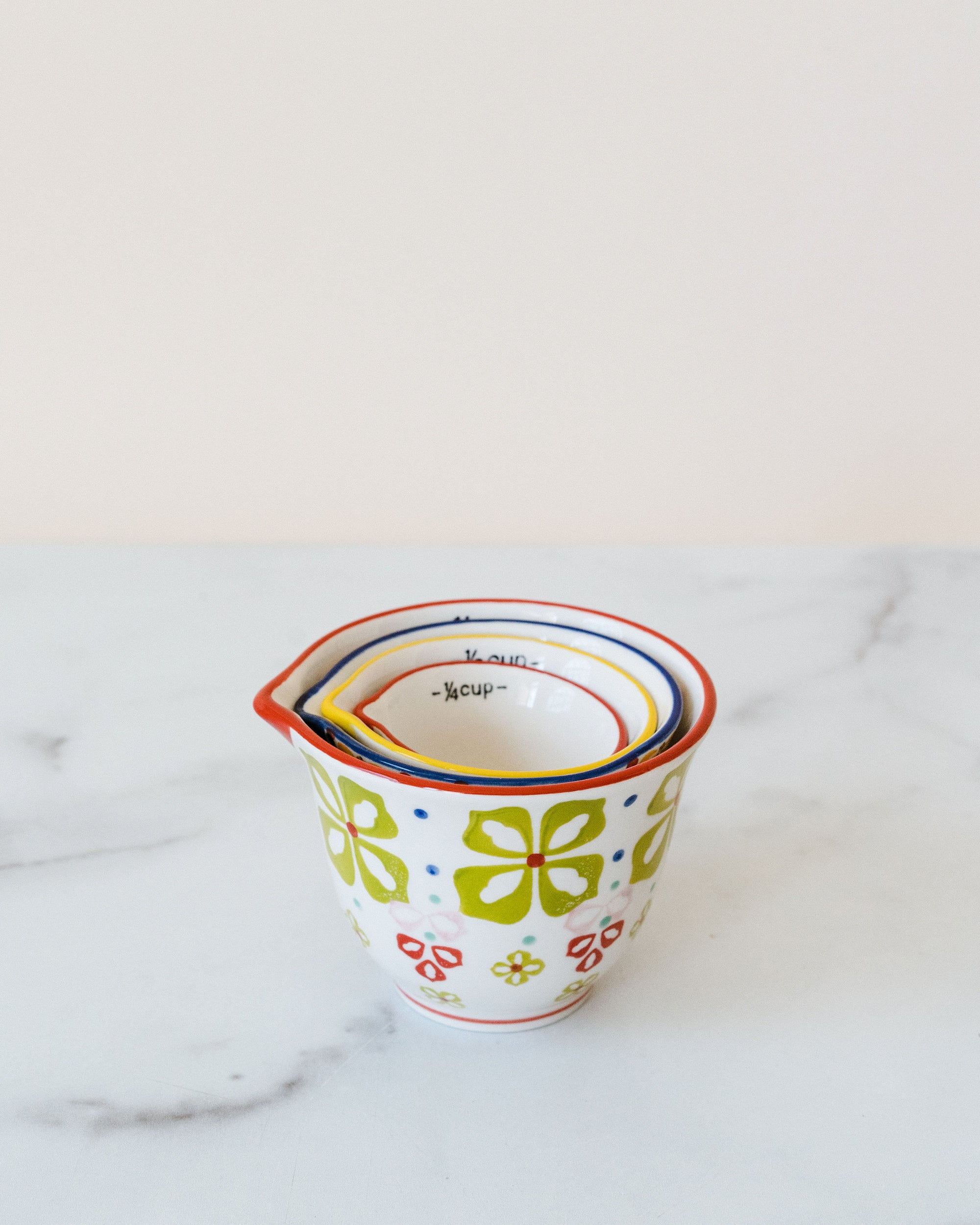 Floral Pattern Measuring cups-st/4