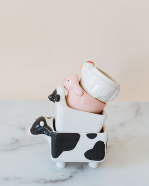 Farm Animal Measuring Cup Set/4