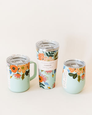 Lively Floral-Mint Stemless