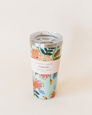 Lively Floral-Mint Tumbler 16oz