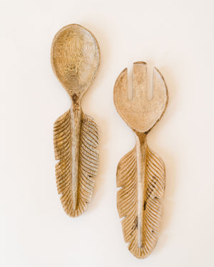 Feather Handle Salad Servers