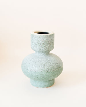 Teal Candlestick Holder