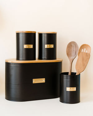 Otto Black Utensil Pot