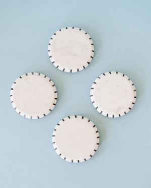 B/W dotted Marble Coaster