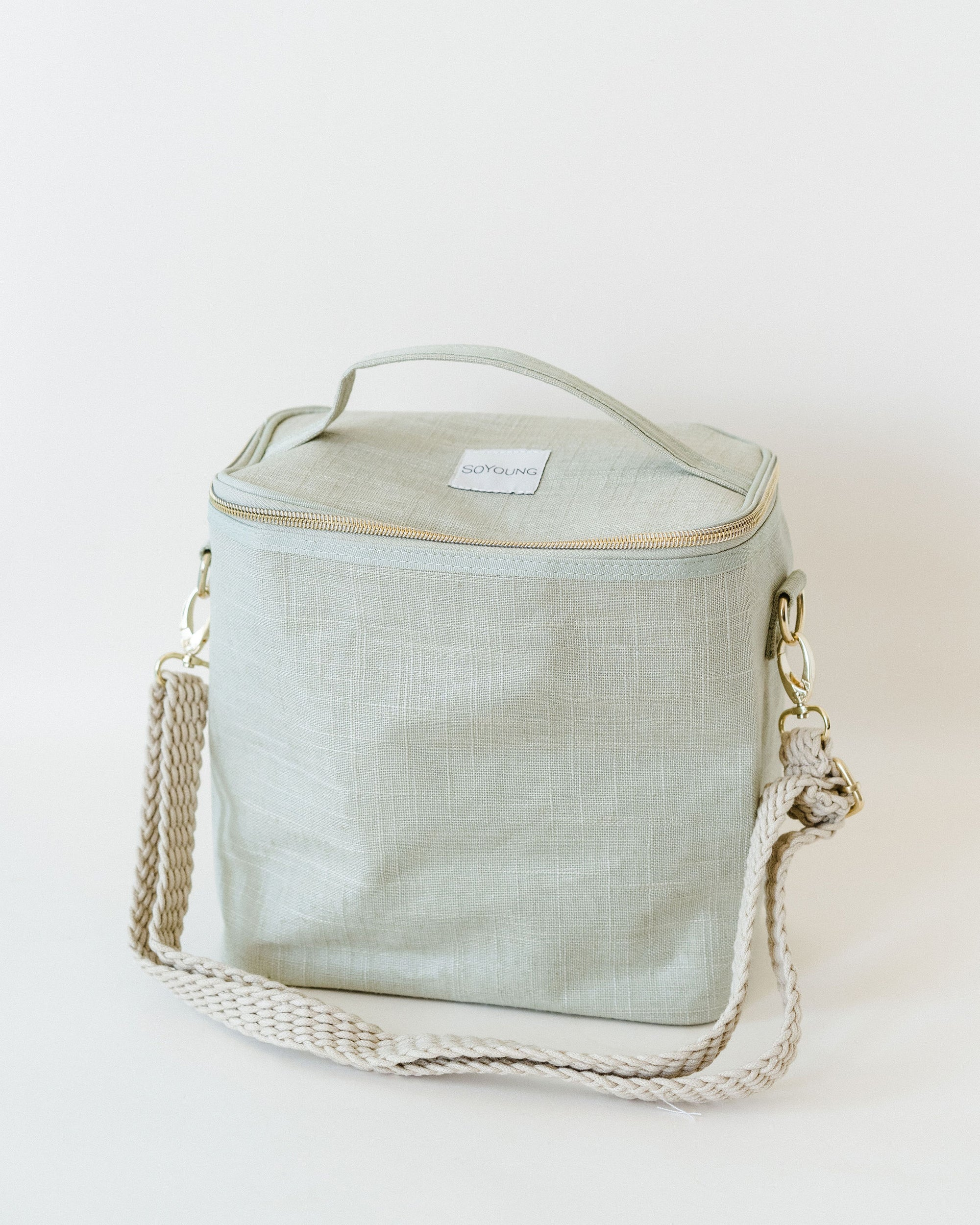 Green Adult Linen Lunch Poche