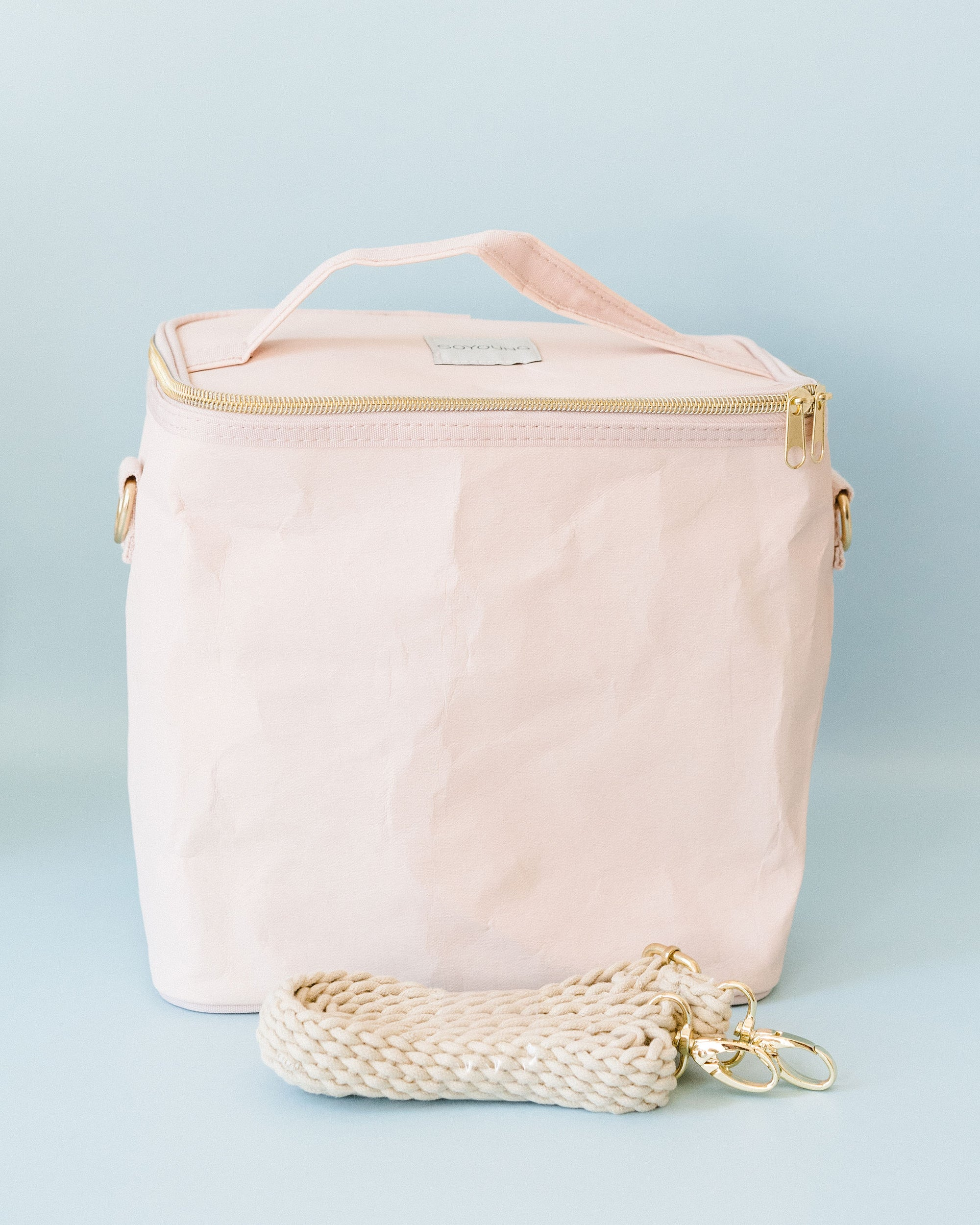 Pink Adult Linen Lunch Poche