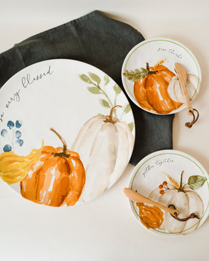 Give Thanks Pumpkin Cheese Set