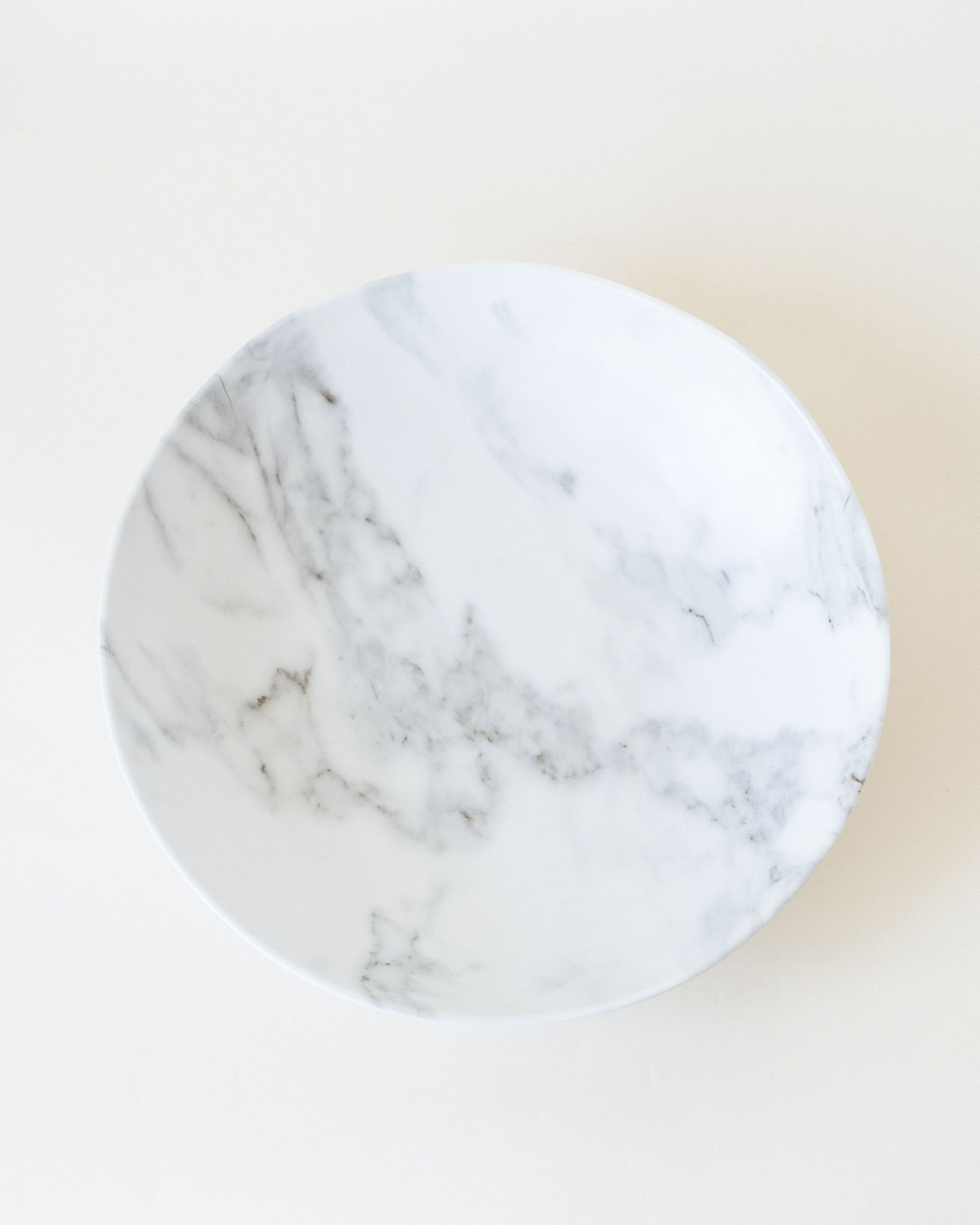 White Marble Serving Bowl