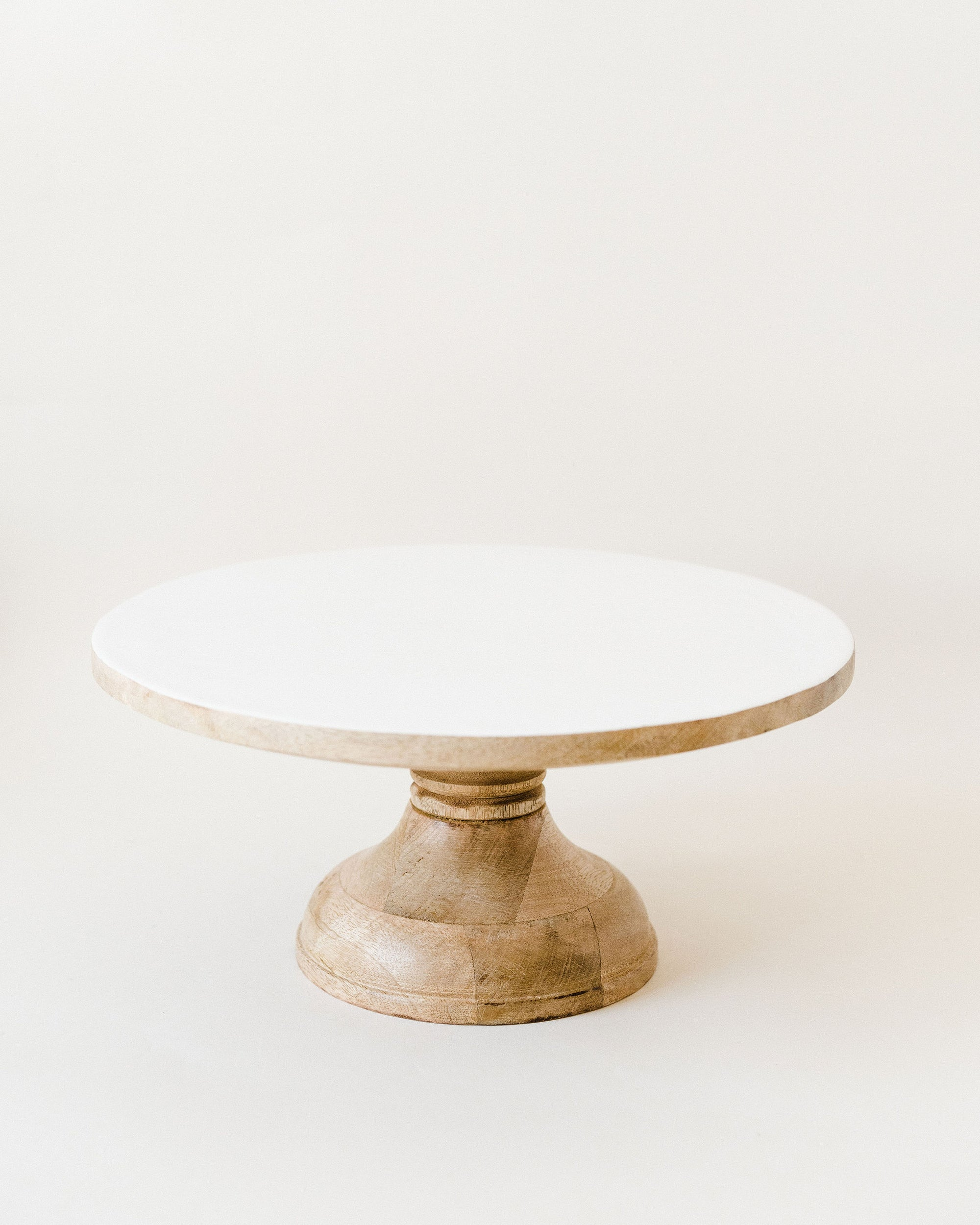 White Enameled Top Stand