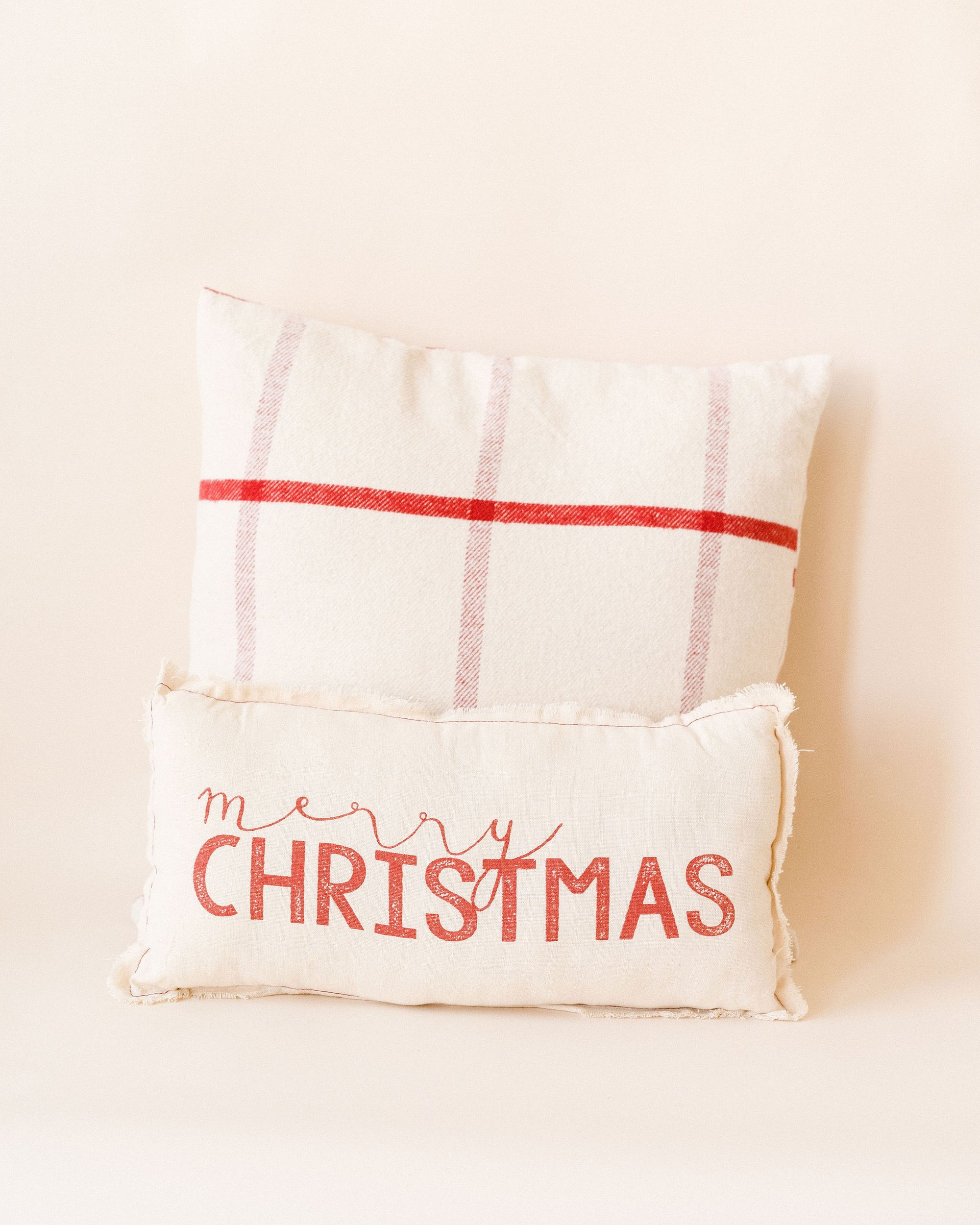 Small Merry Christmas Pillow